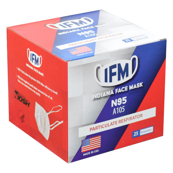 Indiana Face Mask (IFM) N95 (Box of 25)