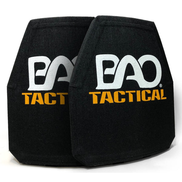 BAO Pair of 4401SH Level IV 10x12 Plates, Standalone, Shooters Cut, Single Curve