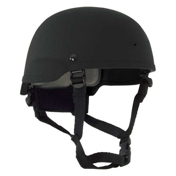 BAO Tactical MICH IIIA Helmet w/ Mesh Liner, Strap Retention - One Size Fits Most, Black