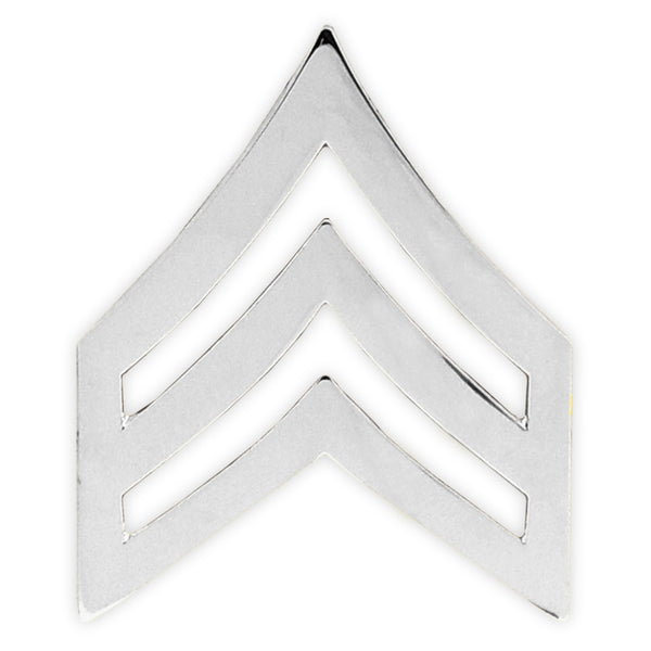 Blackinton Large Sgt. Chevrons, Smooth - 1in x 1-1/4in