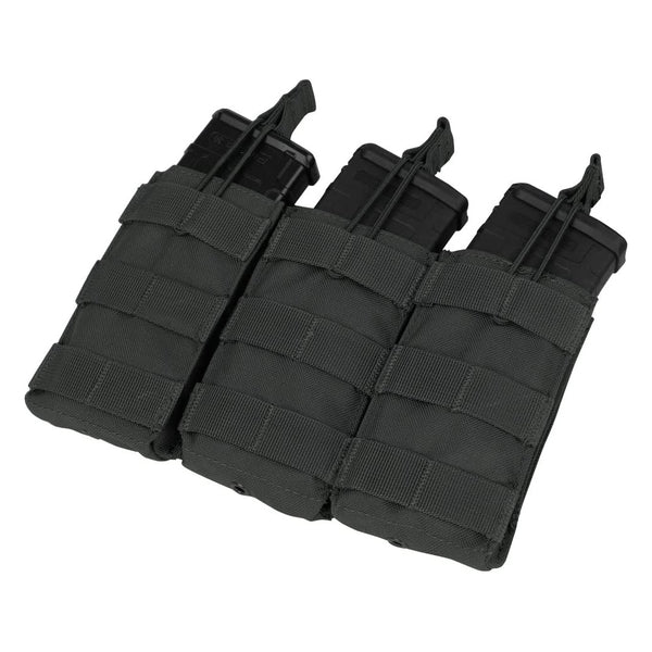 Condor Triple M4/M16 Open Top Mag Pouch, Black - MA27