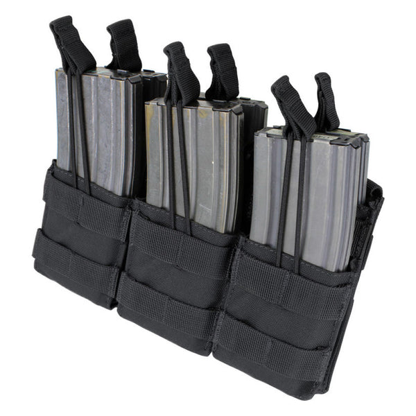 Condor Triple Stacker M4 Mag Pouch, Black - MA44