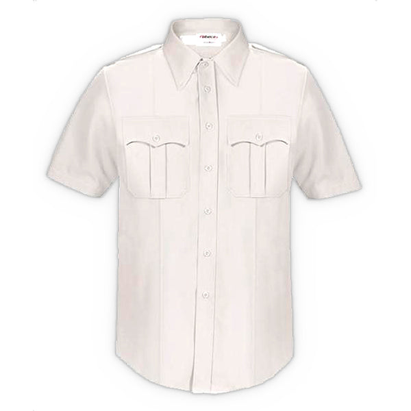 Elbeco Dutymaxx Short Sleeve Shirt, Men's White 14.5R