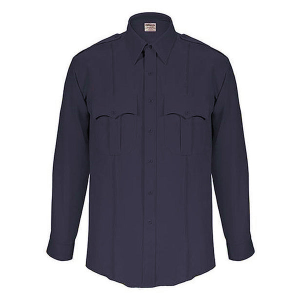 Elbeco TexTrop L/S Zippered Front Shirts, Men's Dark Navy