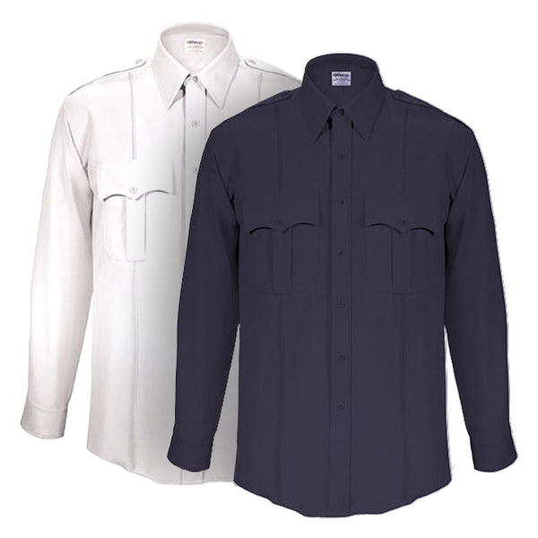 Elbeco TexTrop2 Long Sleeve Zippered Front Shirts for Men