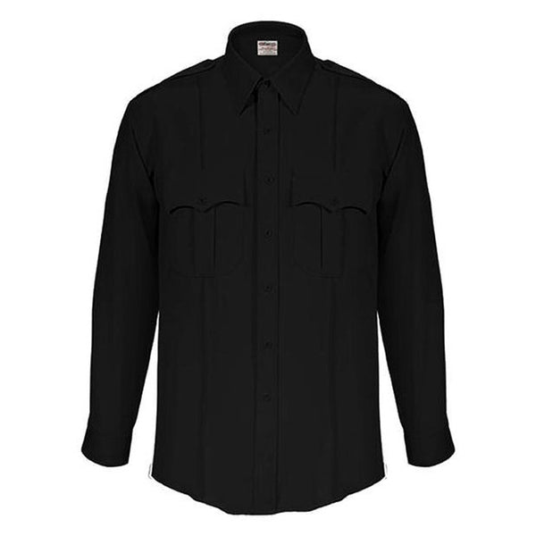 Elbeco TexTrop 2 Long Sleeve Shirts for Men, Black 15-32