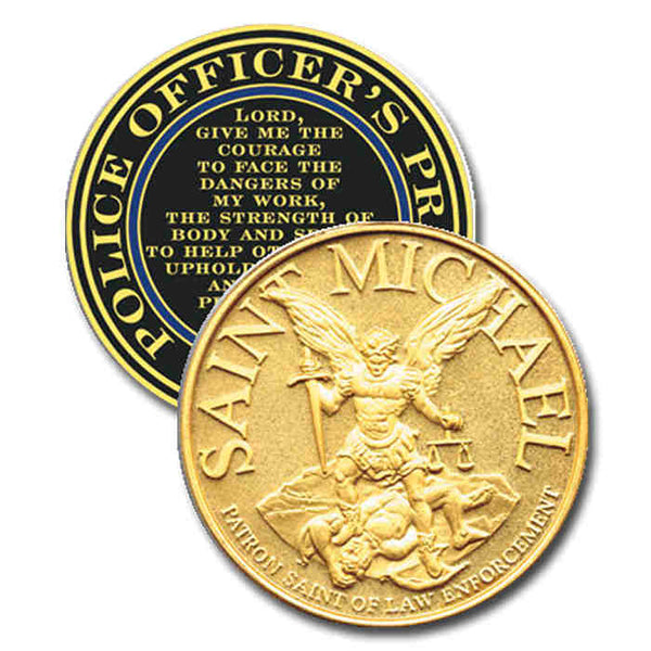 Blackinton 1 3/4in St. Michael Challenge Coin - Gold Plate