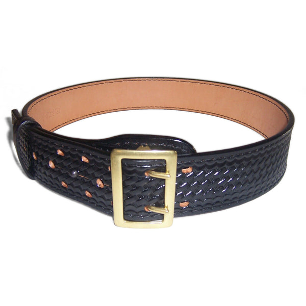 JayPee Sam Browne Waist Belt, 2-1/4in, Basketweave