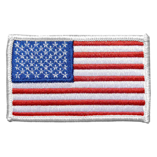 U.S. Flag Patch in Color w/ White Border