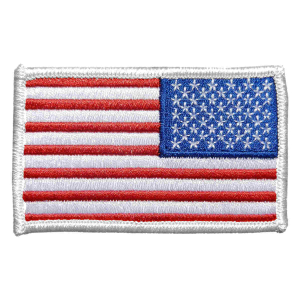 U.S. Flag Patch in Color w/ White Border - Reverse
