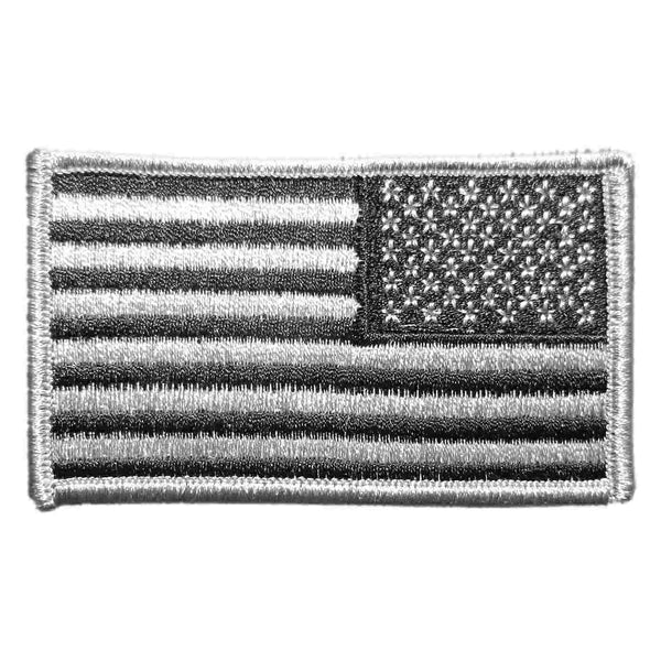 U.S. Flag Patch in Gray - Reverse