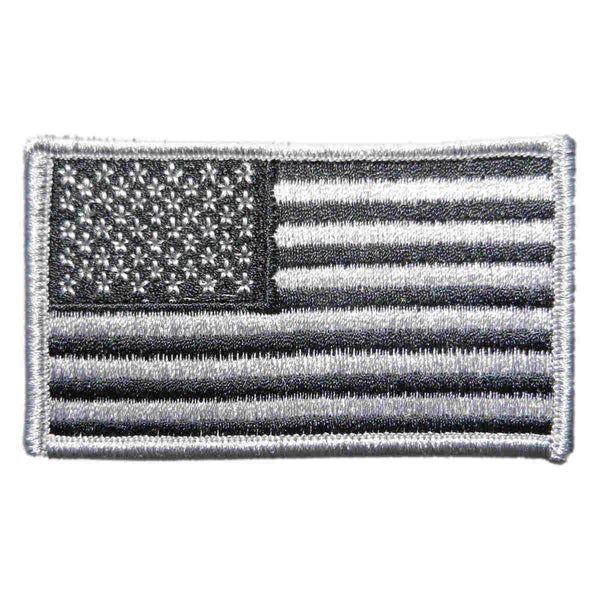 U.S. Flag Patch in Gray