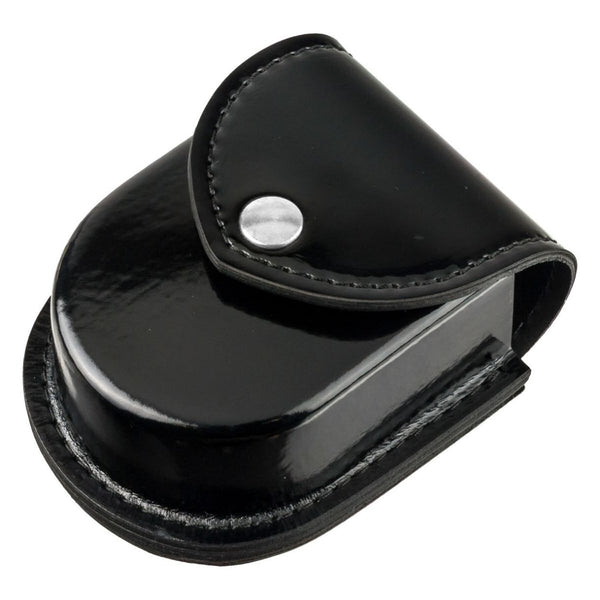 Safariland Model 290 Double Cuff Pouch, Hi Gloss, Black w/ Chrome