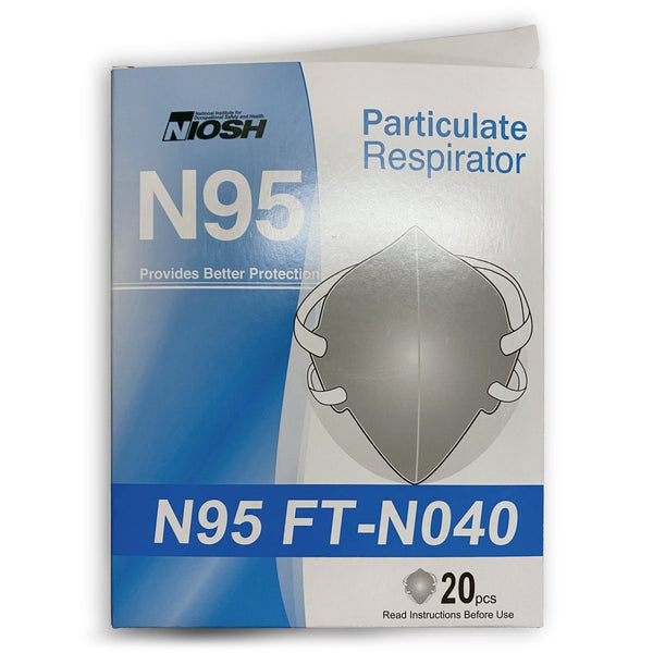 NIOSH Approved N95 Masks - Box of 20