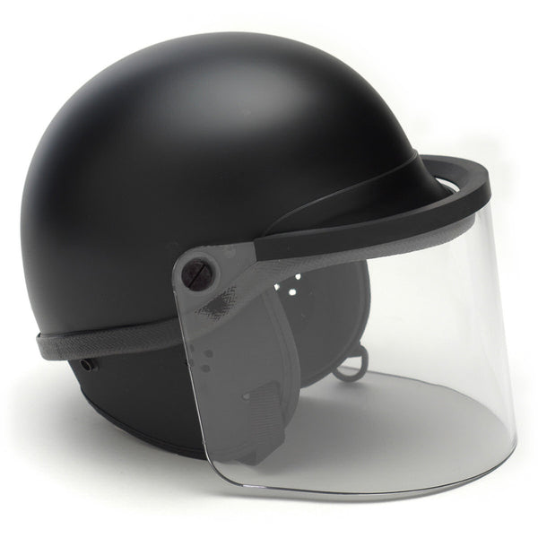 Sirchie Model 906 Series TacElite EPR Polycarbonate Alloy Riot Helmet - Jumbo Size, Black w/ Standard Face Shield and Standard Double D-Ring