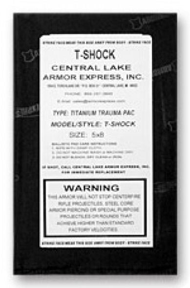 Armor Express T-Shock Plate - label