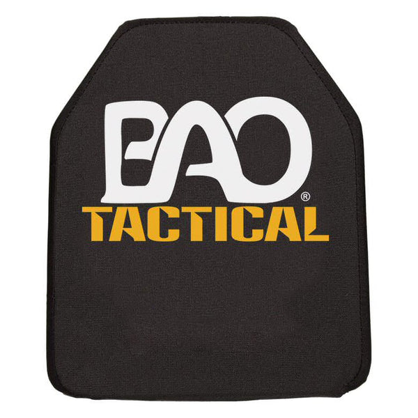 "BAO Tactical 1155 Level IV NIJ .06 Hard Armor Plate, Stand Alone, Shooters Cut, Single Curve, 10""x12"""