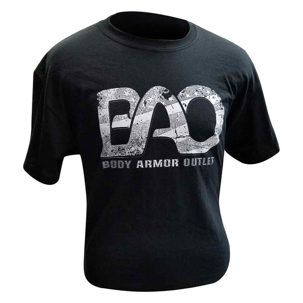 BAO Logo Black and White Flag Graphic T-Shirt