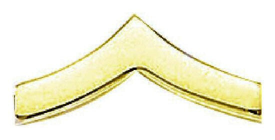 Blackinton Private Chevrons, Smooth from Body Armor Outlet - gold tone