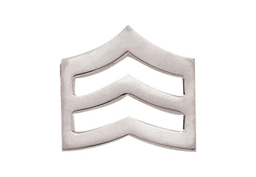 Blackinton Small Sergeant Chevrons from Body Armor Outlet - nickel finish