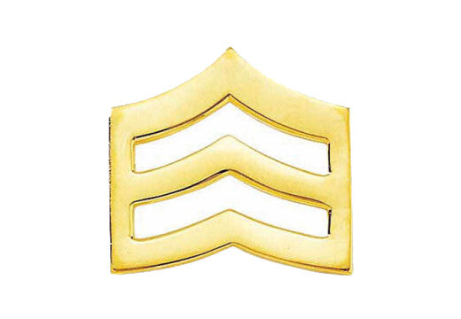 Blackinton Small Sergeant Chevrons from Body Armor Outlet - gold tone