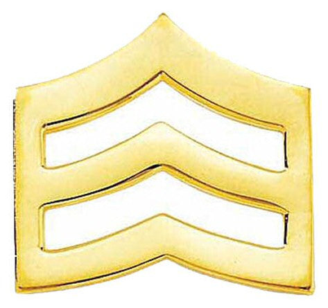 Blackinton Large Sergeant Chevrons from Body Armor Outlet - gold tone