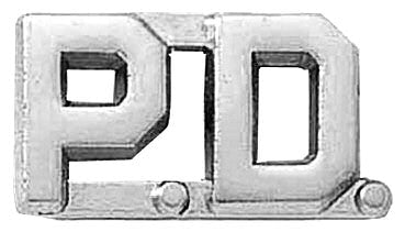 Blackinton P.D. Letter Combination from Body Armor Outlet - nickel finish