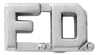 Blackinton F.D. Letter Combination from Body Armor Outlet - nickel finish