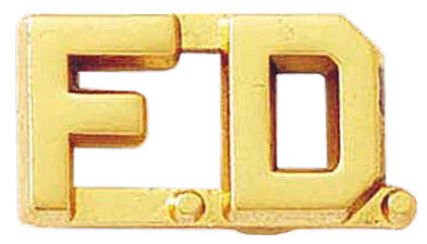 Blackinton F.D. Letter Combination from Body Armor Outlet - gold