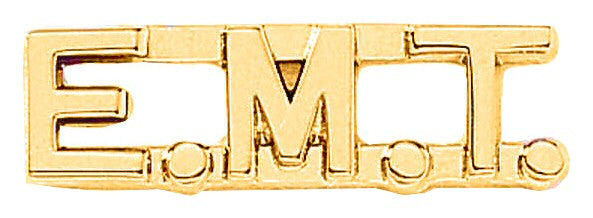 Blackinton E.M.T. Letter combination from Body Armor Outlet - gold tone