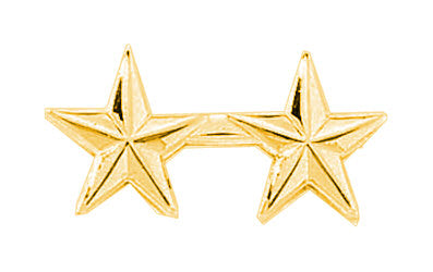 "Blackinton Two Small 1/2"" Stars Lapel Pin"