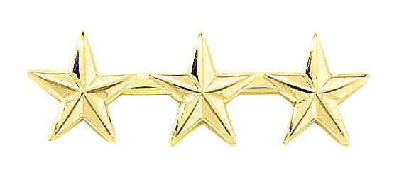 "Blackinton Three Small 1/2"" Stars Pin"