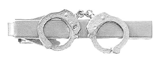 Blackinton Handcuff Tie Bar from Body Armor Outlet - nickel
