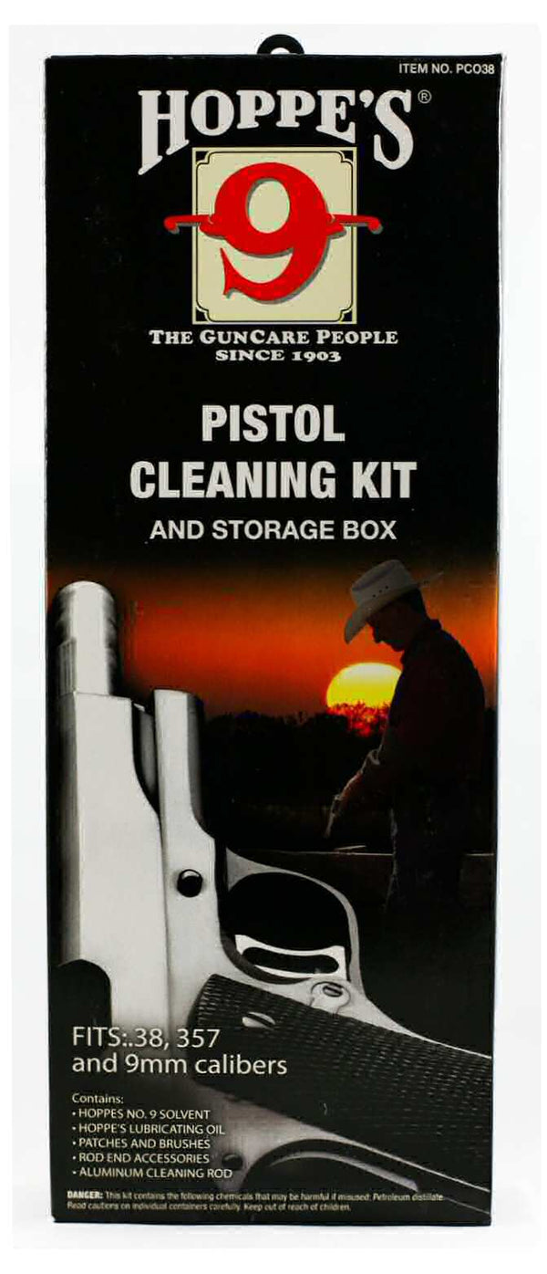 Hoppe's Cleaning Kit Box for .38/.357/9mm Pistols