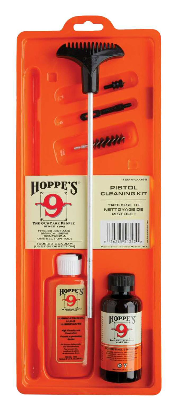 Hoppe's Cleaning Kit for .38/.357/9mm/.380 Pistols