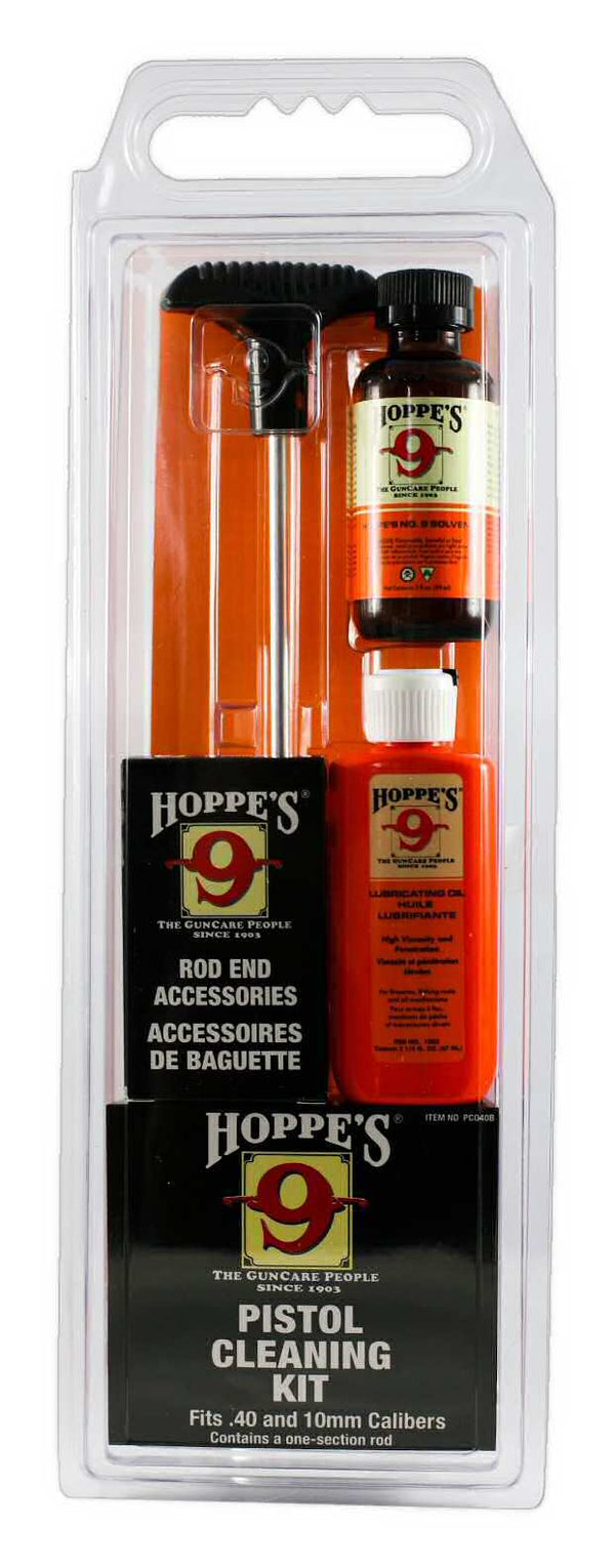 Hoppe's Cleaning Kit for .40, 10mm Caliber Pistols