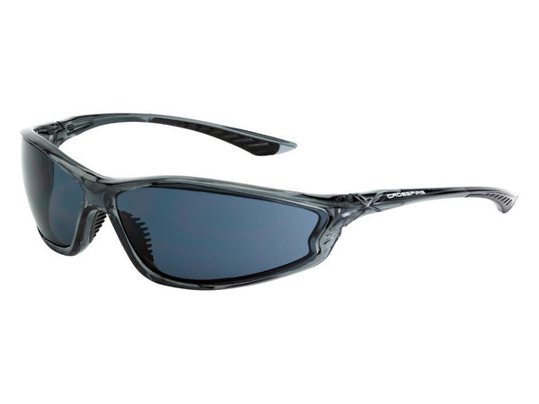 Crossfire KP6 Sunglasses - Crystal Black Frame, Smoke Lens
