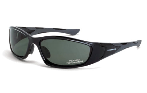 Crystal Black Frame, Blue-Green Lens