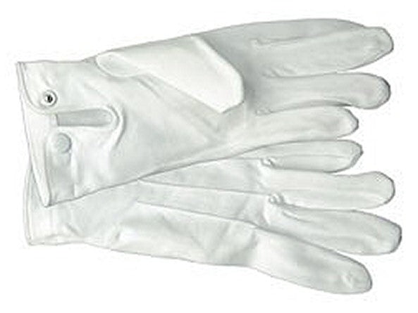 GFP White Cotton Parade Gloves with Snaps