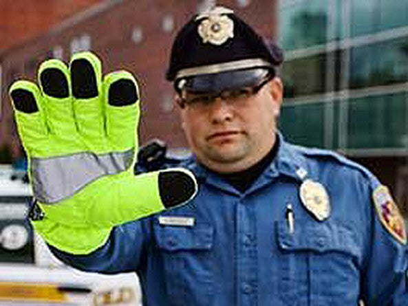 GFP Hi-Vis Traffic Glove - in use