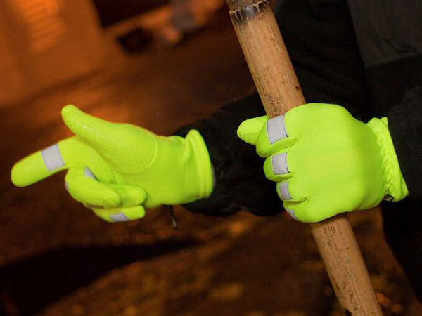 GFP 4-Way Hi-Vis Stretch Gloves with Scotchlite