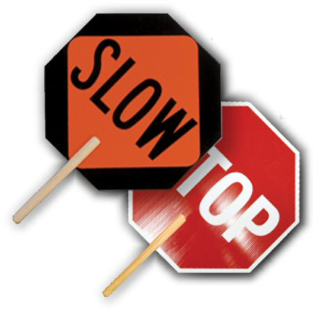 ML Kishigo Stop / Slow Sign, Non-Reflective, Double Sided