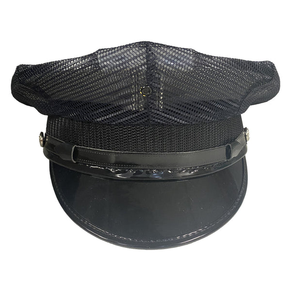 Midway 5 Star Police Cap Collection - 8 Caps, Solid and Mesh