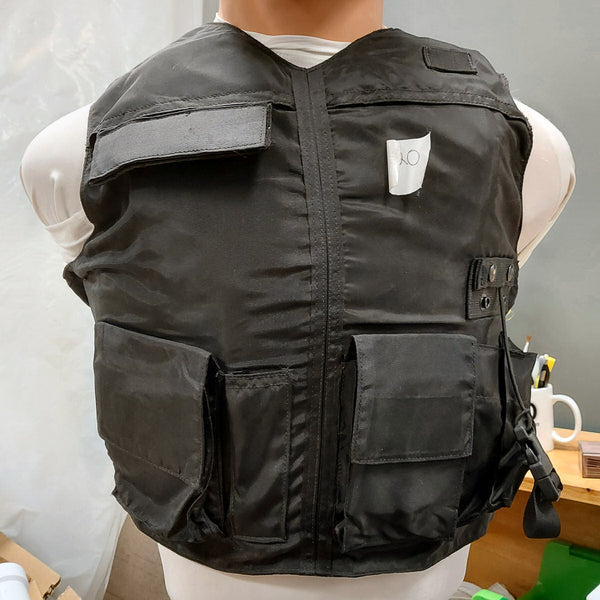 ABA Poly Water Resistant Fixed Pocket IIIA Body Armor Black XLR DOM 2008