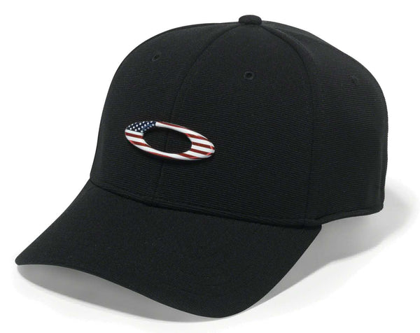 Oakley Standard Issue Tincan Cap Black w/ American Flag