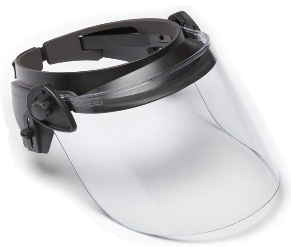 Paulson Clear Riot Faceshield - DK6, .250AF, 8in - shield only view