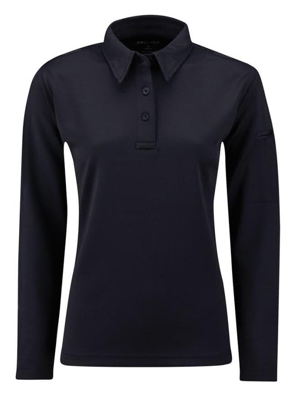 ICE Women's Performance Long Sleeve Polo - navy