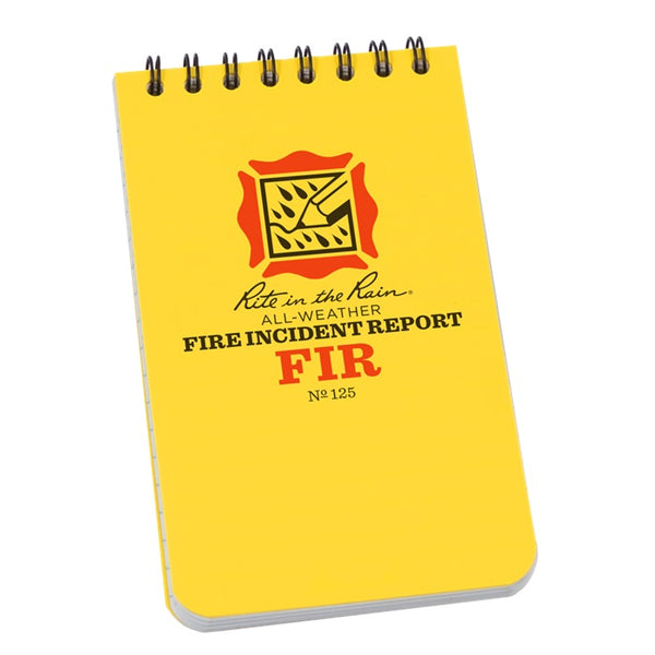 RITR Fire Incident Report Polydura 3 x 5 Notebook
