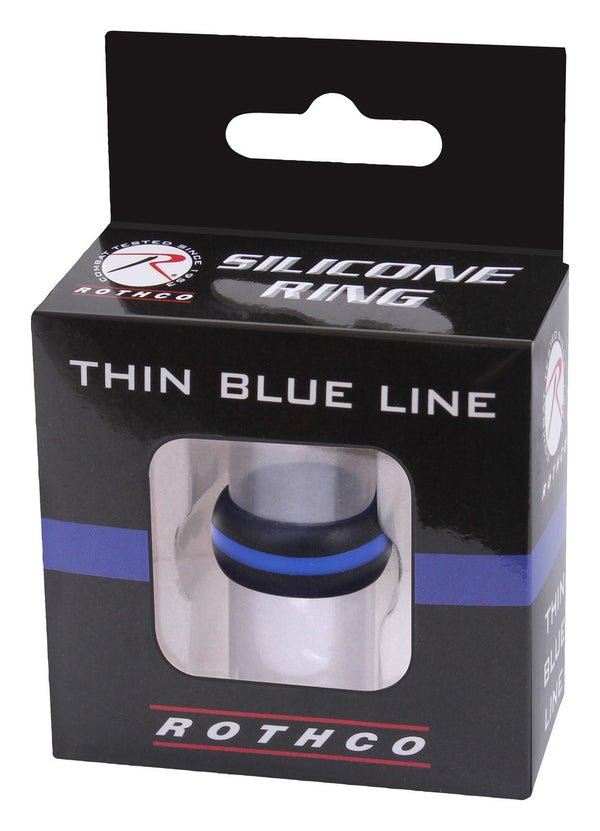 Rothco Thin Blue Line Silicone Ring - packaging