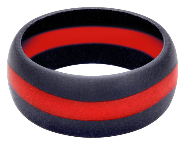 Rothco Thin Red Line Silicone Ring - enlarged view